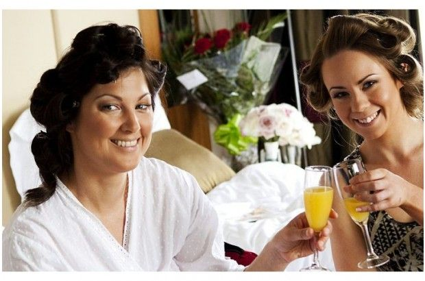 A couple of young ladies getting pampered for a wedding! www.empowerstudio.ie #makeup #bride #wedding #beauty