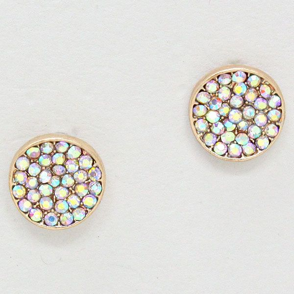 Crystal Pebble Earrings in Iridescence//