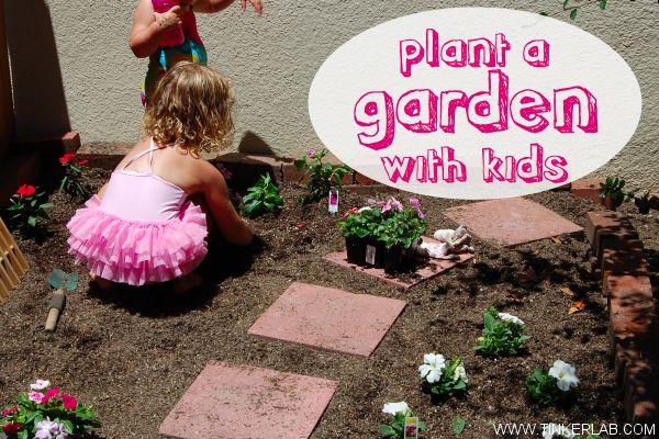 Plant kids garden. from Tinkerlab