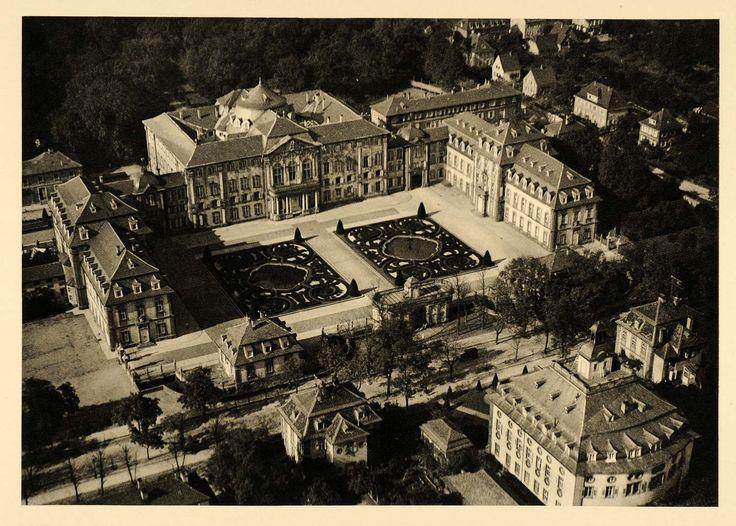 1934 Bruchsal Castle Germany Balthasar Neumann Rococo - ORIGINAL GER4