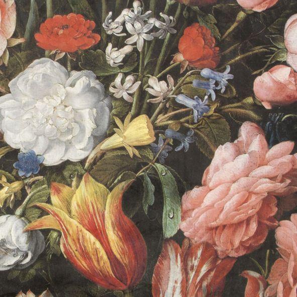 PLYŠ Velké květy a tulipány De luxe, digitální tisk
