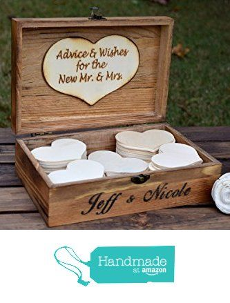 Personalized Wedding Guest Book Alternative - Wedding Advice Box - Rustic…