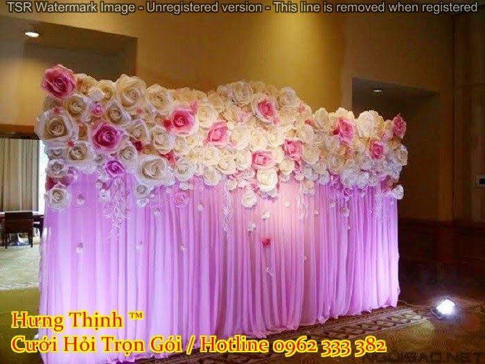Backdrop Hoa gấy Mẫu 03 - Dịch vụ cưới hỏi