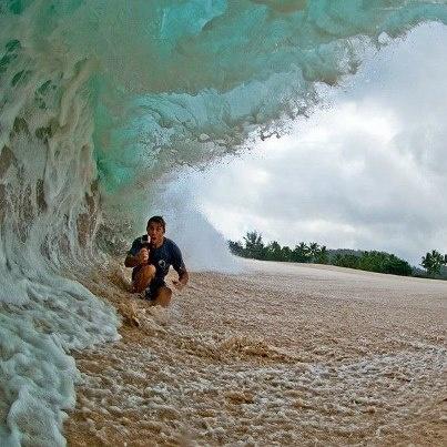 Under a Monster Wave
