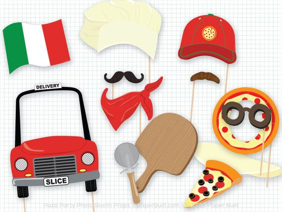 #pinzzaparty Pizza Party Photo Booth Props, Photobooth Props, Pizza Pie, Chef Hat, Pizza Birthday, Baking Party, Pizza Delivery, Fun Photobooth Props