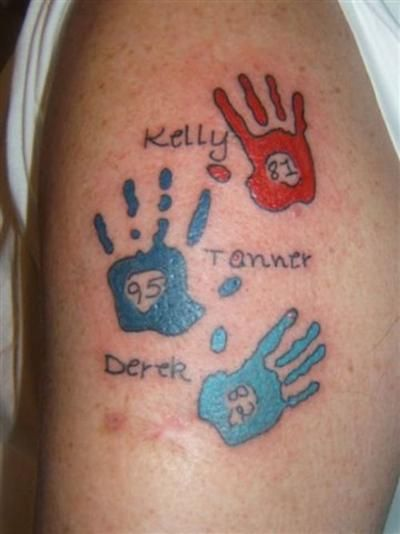 Hands for grandchildren tats pinterest grandchildren for Tattoos with grandchildren s names