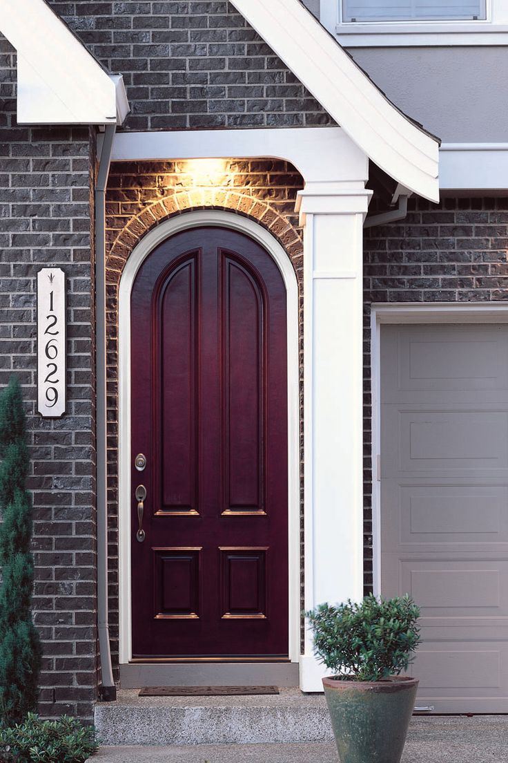 Awesome Fiberglass Arched Entry Doors