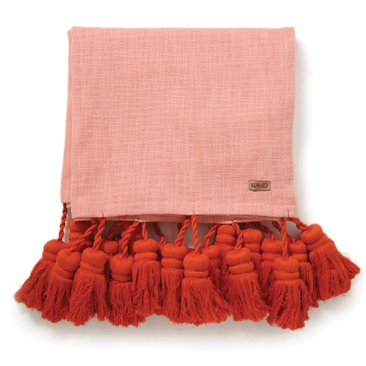 Kip & Co - Co Strawberry Shortcake Tassel Bed Throw