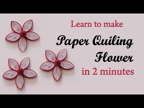 DIY || How to make Simple flower from Quilling strips in 2 minutes || Ruchi's Art - YouTube