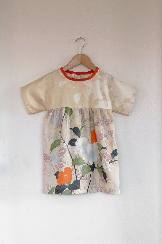 cotton sateen floral dress / tunic by swallowsreturn on Etsy, $34.00