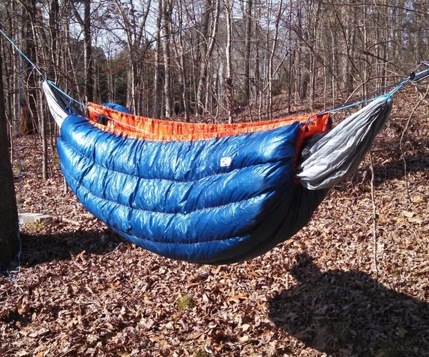 Down Hammock Underquilt - Ultralight, 20*F instructions on how to make http://www.instructables.com/id/Down-Hammock-Underquilt-Ultralight-20F/