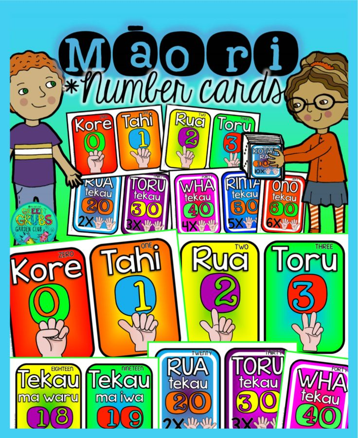 Maori Number Cards