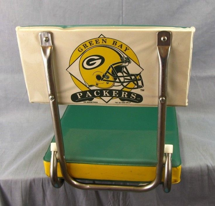 Green Bay Packers Folding Bleacher Chair Seat Cushion Vtg 1996 Kimberly  Rose | Empty Estates Store | Pinterest | Bleacher Chairs And Tv Wall Mount
