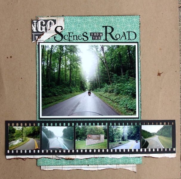 Scrapbook Page by Brenda Becknell | GetItScrapped.com/blog - great way to showcase all those cruising pics!!! #scrapbooktips