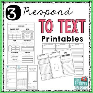 3 - Respond to Text Printables