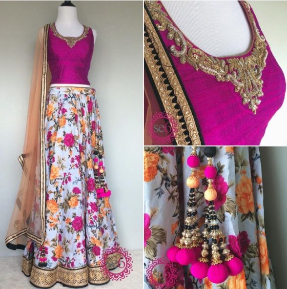 Bright colors perfect for a spring event #IndianBridal #IndianFashion #StudioEast6 #Fushion