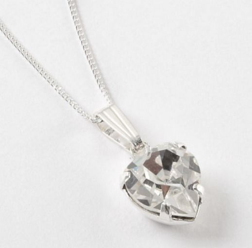 Swarovski Crystal Heart Pendant Sterling Silver Necklace  - Beautiful hand crafted item using Superior quality Swarovski components.