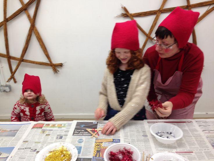 Christmas creative workshop at Trebah Garden, Cornwall