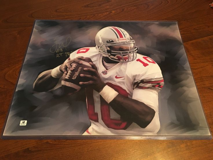 Troy Smith Ohio State Buckeyes Hand Signed Heisman Trophy 2006 16x20 Artistic Photo RARE