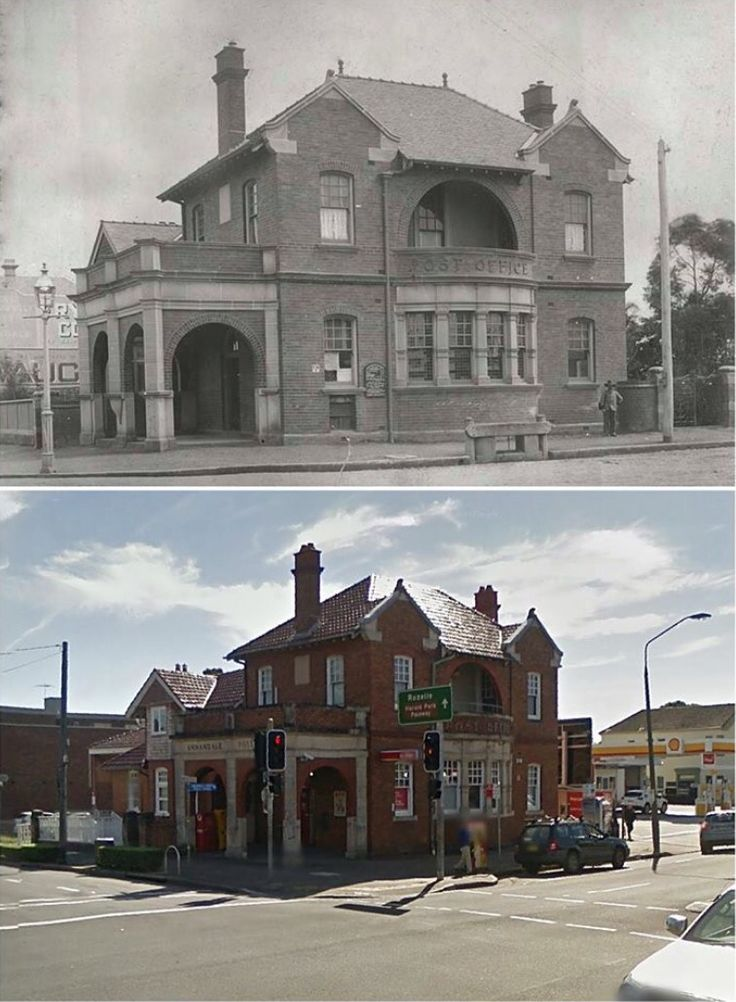 Annandale Post Office corner of Booth and Johnston St, Annandale. Year unknown > 2014. [State Records NSW > Google Street View by Jan Harkins]