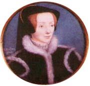 Miniature of Catherine Willoughby Brandon by Hans Holbein, the Younger. She was the fourth wife to Charles Brandon, Duke of Suffolk.