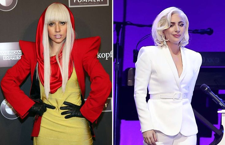 Lady Gaga (2009, 2017) - Anita Bugge/WireImage/Getty Images; Gary Miller/Getty Images