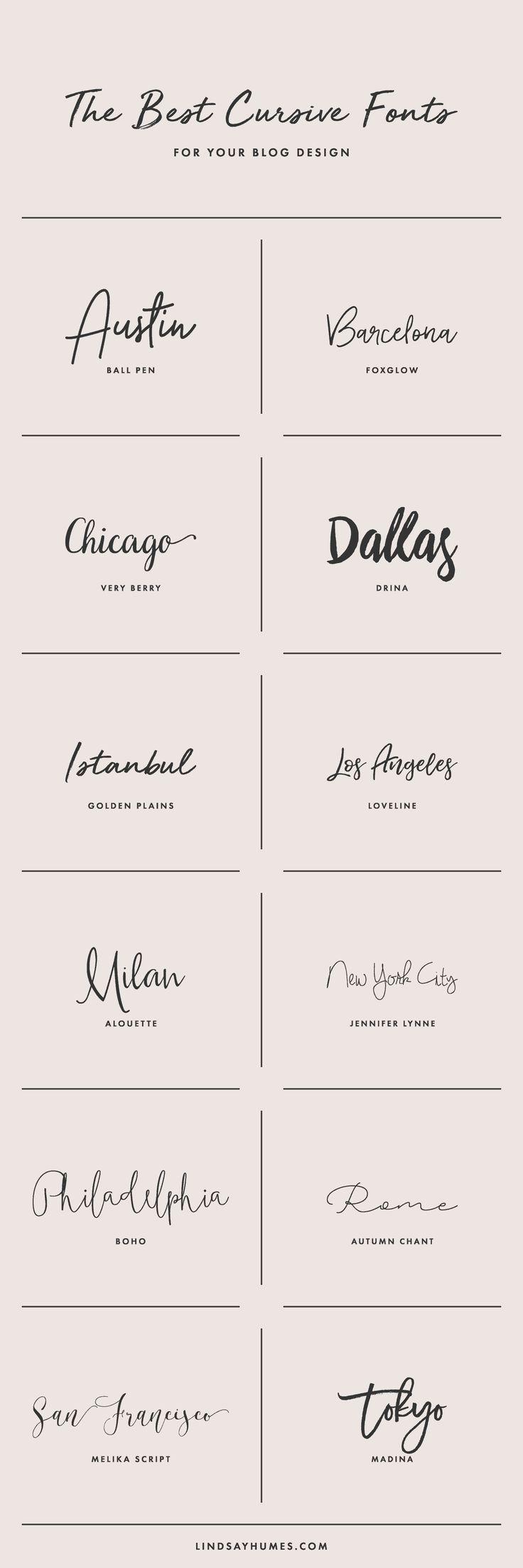 So wählen Sie kursive Schriftarten für Ihr Blog-Design aus #Tattoos #Ale