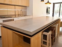 Island benchtop by Concreate #concrete #benchtop
