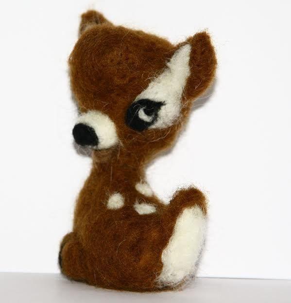 sweet  little fawn  needle felted miniature beautiful animal toys  handmade | eBay