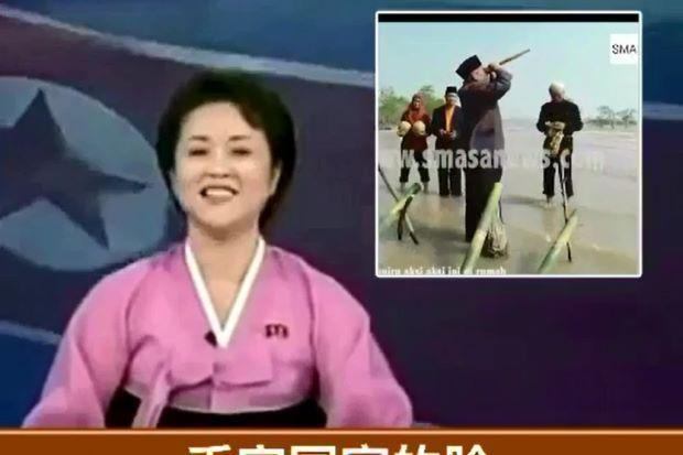 Video Raja Bomoh disiarkan di berita Korea Utara sebenarnya palsu   Laporan berita mengenai Raja Bomoh Sedunia tidak pernah disiarkan di Korea Utara seperti mana disebarkan menerusi media sosial.  Video Raja Bomoh disiarkan di berita Korea Utara sebenarnya palsu  Rakaman yang menunjukkan bagaimana Ibrahim Mat Zin bersama pembantunya cuba melindundi negara dari serangan Korea Utara dan dikatakan disiarkan menerusi siaran berita negara itu didapati palsu.  Apa yang diperkatakan pembaca berita…