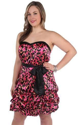 Pink Cheetah Dress Deb