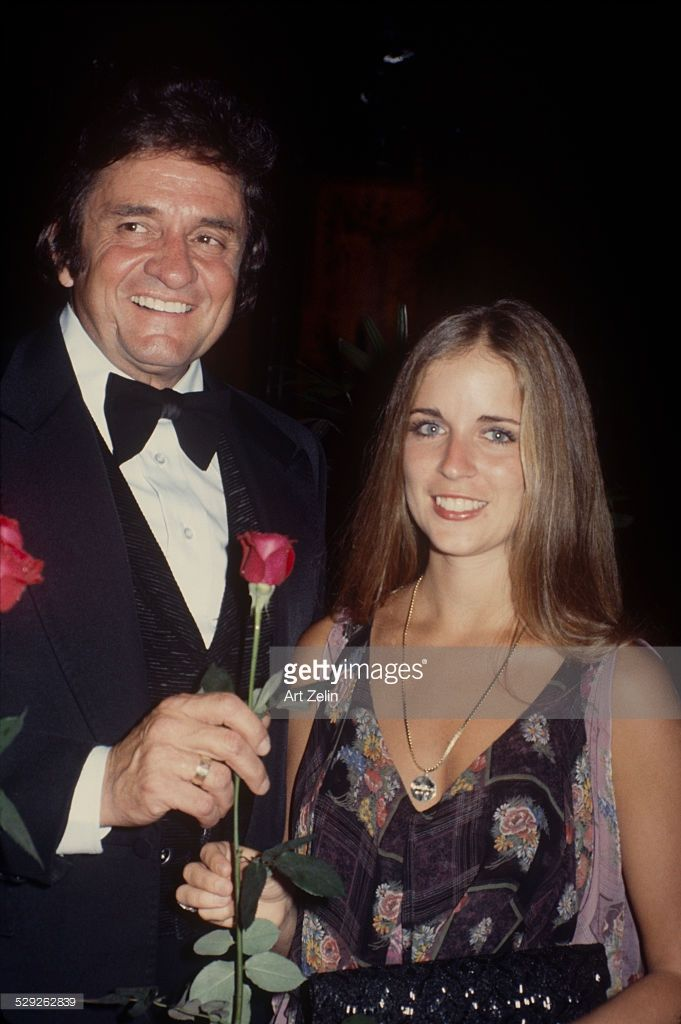 Carlene Carter with Johnny Cash at a formal event; circa 1970; New York.