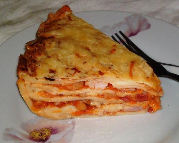 Zapekané palacinky a la lasagne