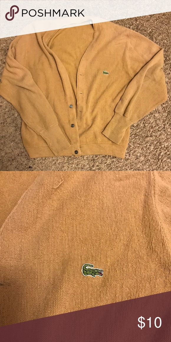 Vintage Lacoste cardigan Light tan. Has small hole where the cuff connects to the sleeve Lacoste Sweaters Cardigans