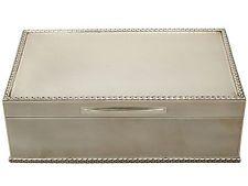 Sterling Silver Jewellery Box - Vintage Elizabeth II