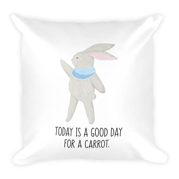 Today Is A Good Day For A Carrot 18x18 Couch Decor