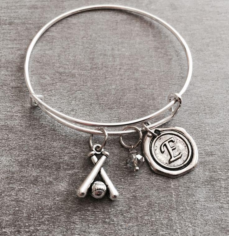 Silver Bracelet, Baseball Mom, Softball Bracelet, Softball Jewelry, Softball Player, Coach,Personalized Bracelet, Baseball Bracelet, Gifts by SAjolie, $16.95 USD