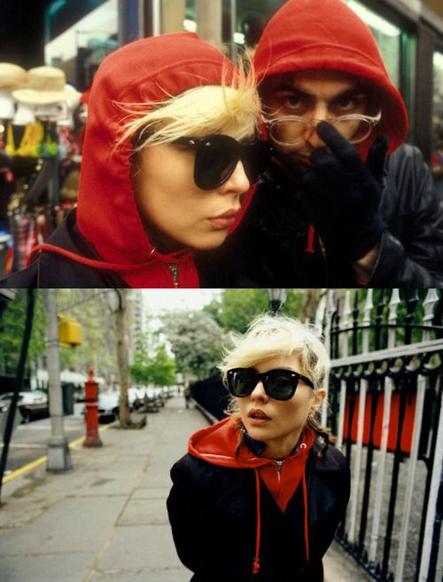 Debbie Harry and Chris Stein photographed by Martyn Goddard, New York City, 1978.