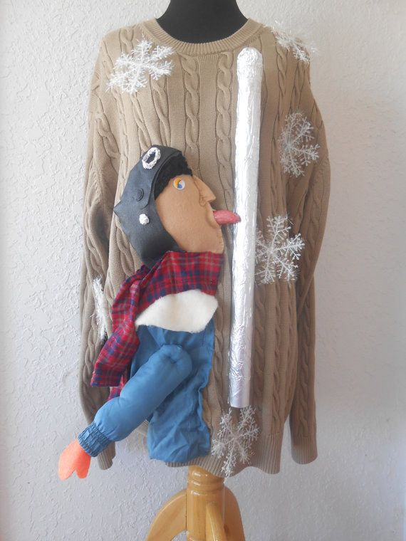 Triple Dog Dare Ugly Sweater | Community Post: 27 Ugly Sweater DIYs That Will Make Santa Cry