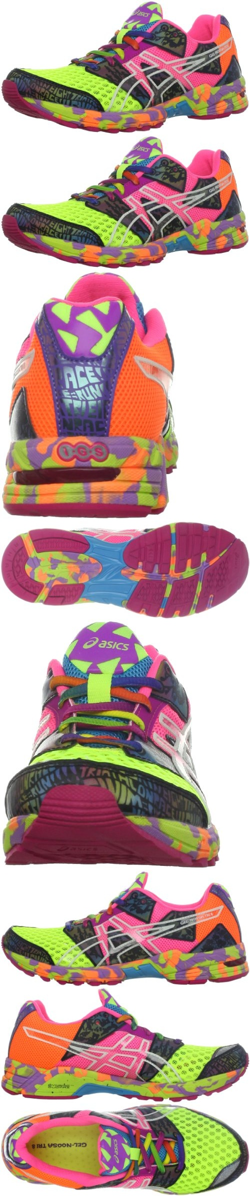 ASICS Women's GEL-Noosa Tri 8 Running Shoe - Asics Noosa Tri 8 are just as extreme as the athletes who wear them.Propulsion Trusstic mimics the connective tissue in the foot Organic and nonorganic outsole for enhanced traction DuoMax Support Sys... - Running - Apparel