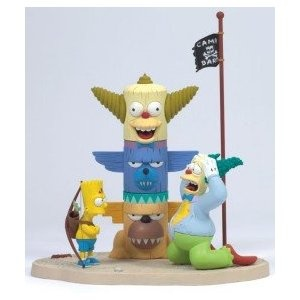 "Krusty & Bart ""Kamp Krusty"" McFarlane The Simpsons Series 1 Action Figure (Toy)"