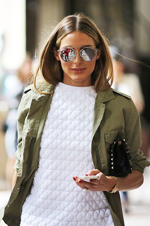 1. Lisa Rvd 2. Olivia Palermo // Teen Vogue 3. Fashion Me Now A green army jacket is one of my top five must-haves for spring. As these lovely ladies show, it's incredibly versatile and perfect for