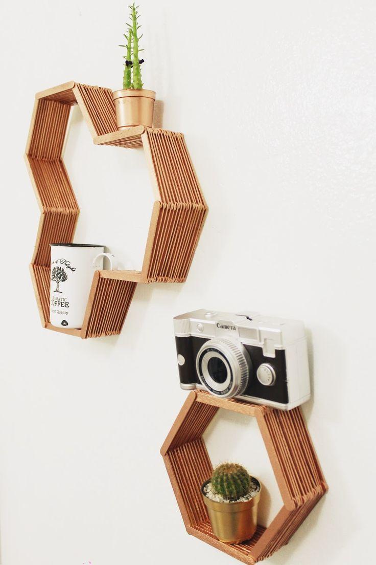 diy, faça você mesmo, nichos, nicho, palito de picolé, fácil, decoração, minimalista, simples, cobre