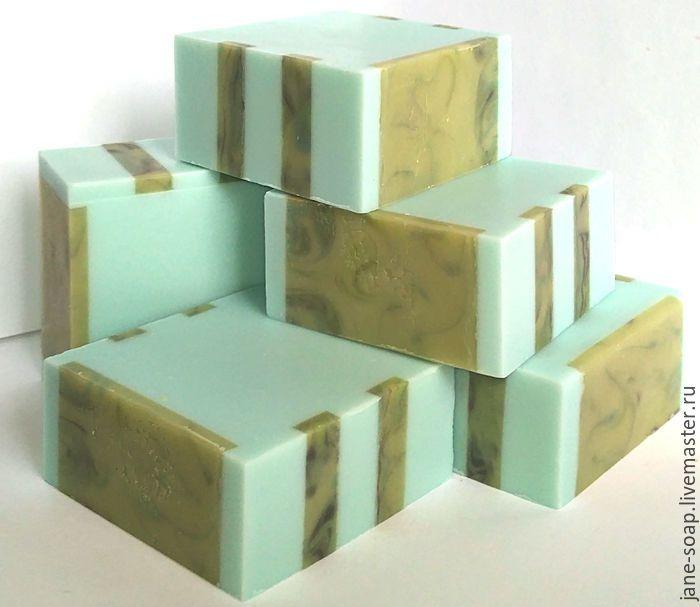 Мыло с нуля «Ментол и Мята» , ХС. - мыло с нуля, мыло натуральное с нуля