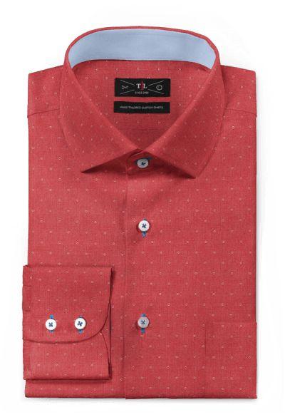 Red micropattern 100% cotton Shirt: http://www.tailor4less.com/en-us/men/shirts/3132-red-micropattern-100-cotton-shirt