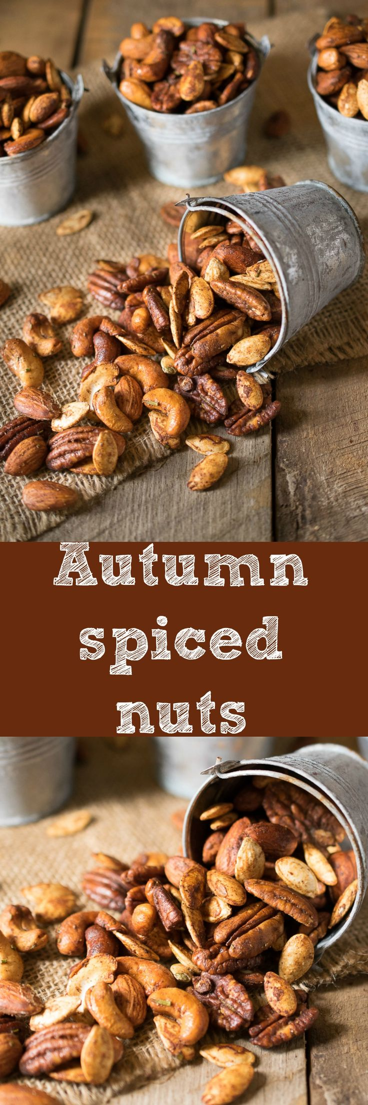 Mixed nuts and pumpkin seeds are roasted with warm spices, honey and rosemary, a perfectly comforting snack. The Ultimate Pinterest Party, Week 69