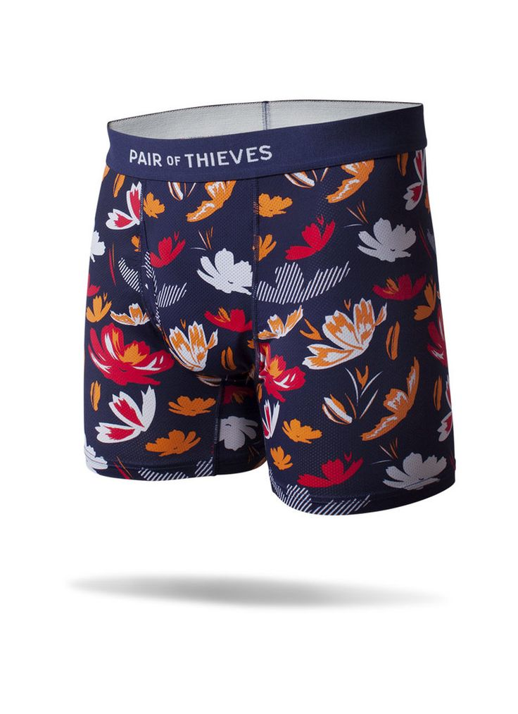 Men's Boxer Brief - Multi-Color Floral XL - Pair of Thieves : Target
