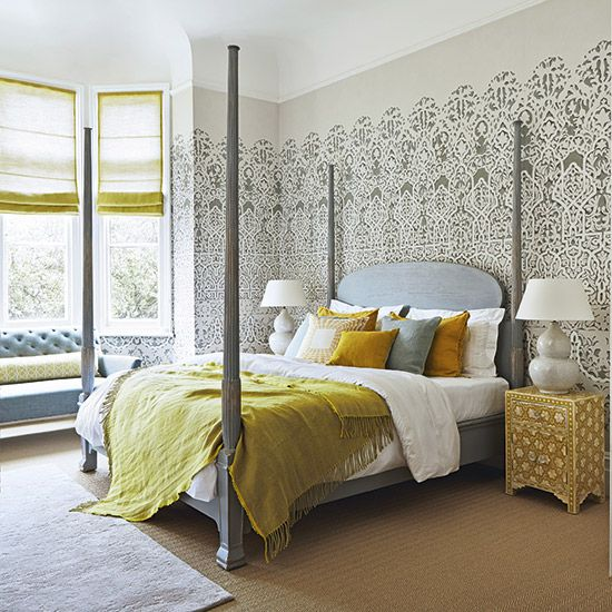Our Reeded Four Poster Bed was shot and styled by Homes & Gardens - shown without the canopy simonhorn.com