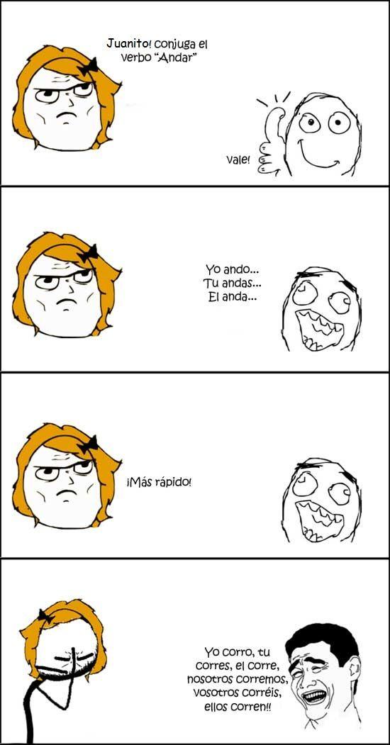 """Conjugar el verbo """"andar""""...con ironía - (presente)"""