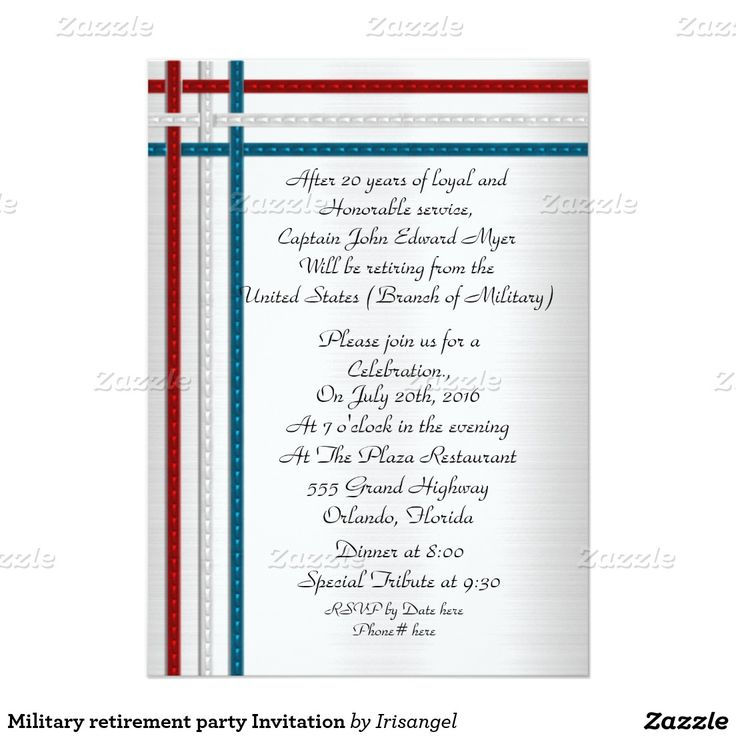 40 best Military retirement party invitations images on Pinterest ...